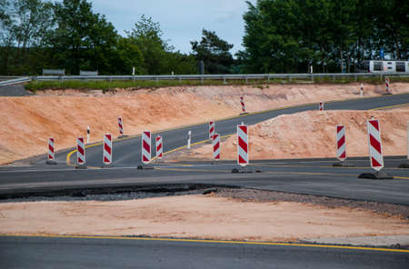 roadwork: Construction site of Roadwork Stock Photo