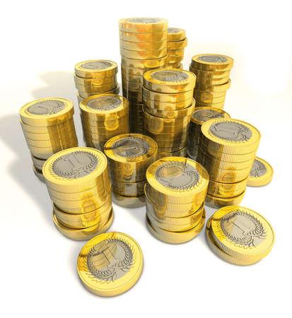 merit: Money stack coins Stock Photo