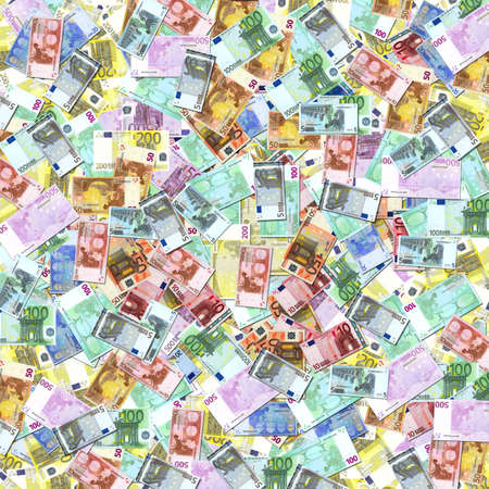 solvency: Euro Treasury notes euro banknotes texture
