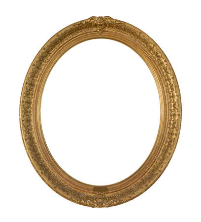 oval: Picture frame oval Stock Photo