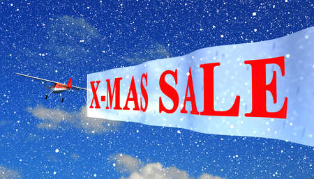 sellout: airplane with banner quotXmas Salequot
