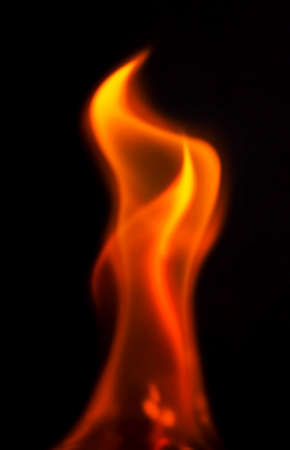 flame: Flame on black background