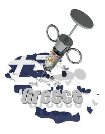 cash dispense: Greece crisis