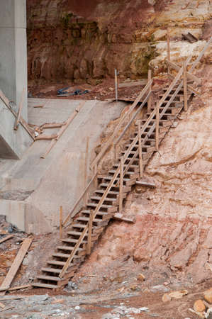 Construction site motorway bridge