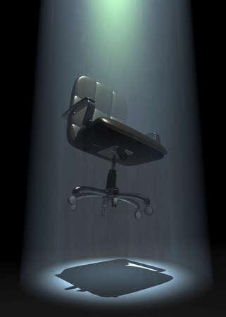 executive chair, beamed up 3D illustration Standard-Bild - 118157551