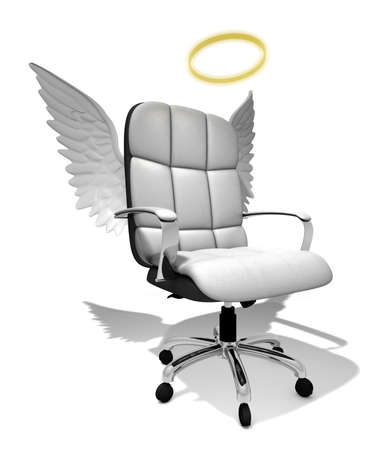 executive chair angel, 3D illustration