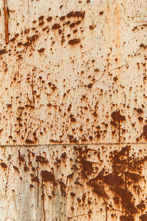 metal structure: Rust at white painted metal