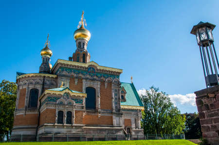 Russian Chapel in Darmstadt, Hesse, Germany Stock Photo