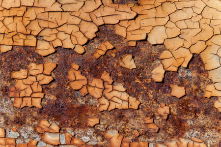 sheet: rusty background with cracked white gloss paint