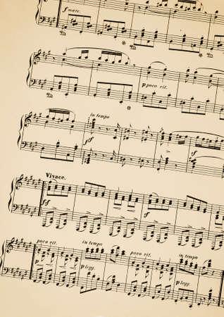 Oude scheet van muziek