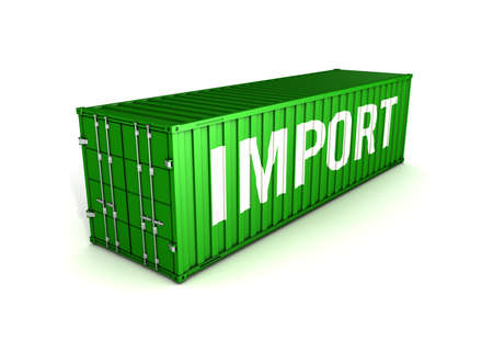 container import export 3D illustration
