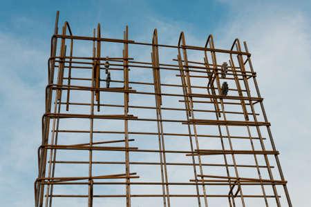 reinforcement construction site grid rust