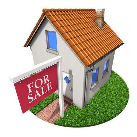 House for sale, 3D illustration