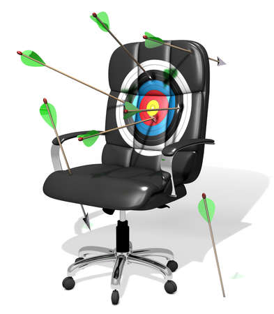 executive chair as target, stock photography Banco de Imagens