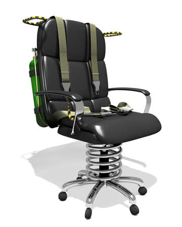 executive chair hot seat, catapult seat, 3d illustration Banco de Imagens