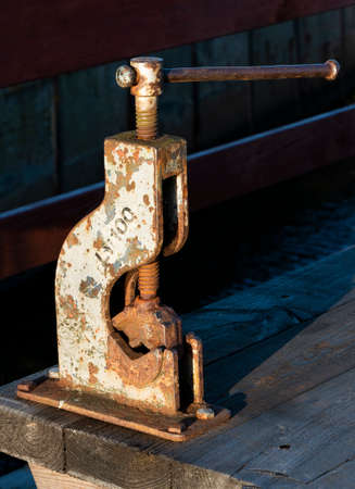 ancient bench vise