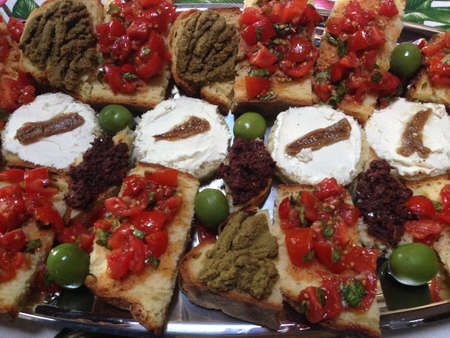 healty: colorated healty food, bruschetta