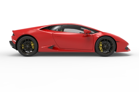 lamborghini: lamborghini huracan on white background02 Editorial