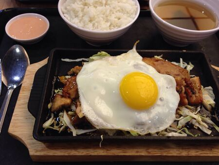 sizzling: Sizzling chicken meal