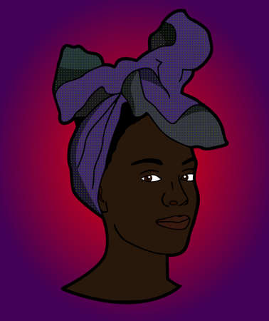 Black woman with head wrap.