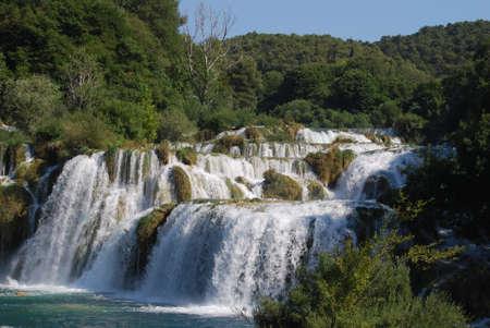 cascade: Cascade falls waterfalls Croatia landscape