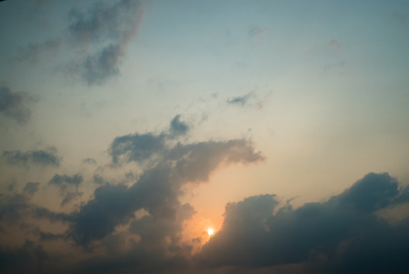 stratosphere: Sunset sky stratosphere background