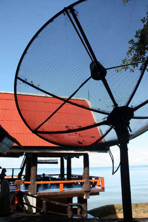 Satellite dish signal. photo