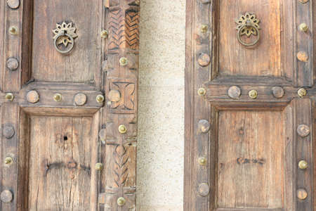 old style wooden door  photo