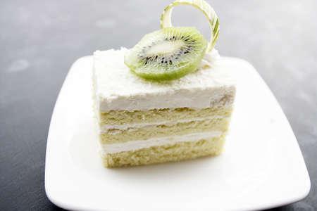 kiwifruit: coconut cake and Kiwifruit  Stock Photo