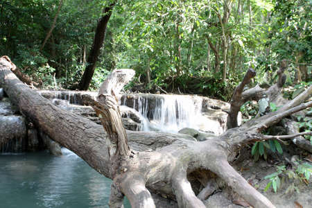 Erawan  waterfall in Kanjanaburi Thailand photo