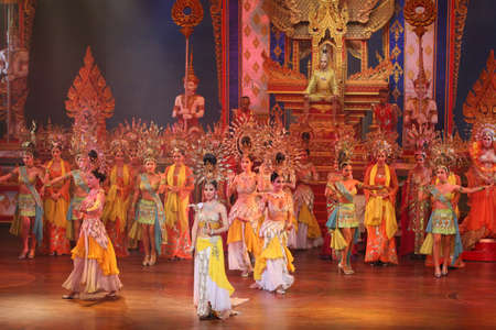 attended: PATTAYA,THAILAND DEC 22 Alcazar Cabaret Show on December 22, 2012,  in Pattaya, Thailand  More then 2500 visitors attended it daily