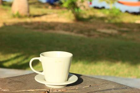 cofffee: cofffee cup in the garden