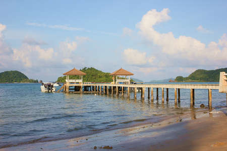 The Bridge pier at Koh Mak Island,Thailad photo