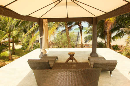 Rattan sofa Near the beach For relax  photo