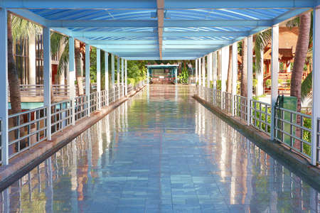 sameness: Bridge walkway connecting between buildings