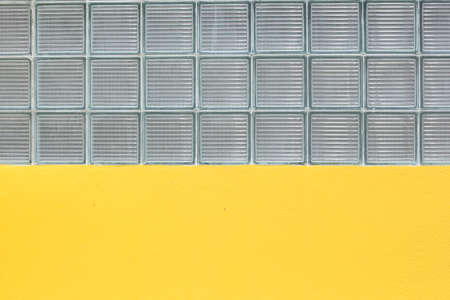 Glass block on the yellow.wall