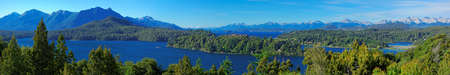 huapi: Panoramic view of Bariloche and its lake, Patagonia, Argentina, South America