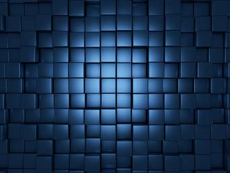 파란색 큐브 추상적 인 배경
