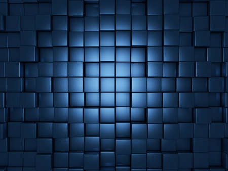 blue cubes abstract background Stok Fotoğraf