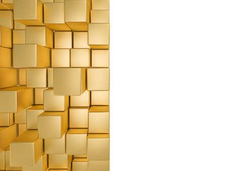 황금 큐브 배경 스톡 콘텐츠