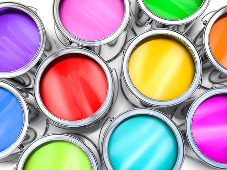 색 페인트 버킷 스톡 콘텐츠