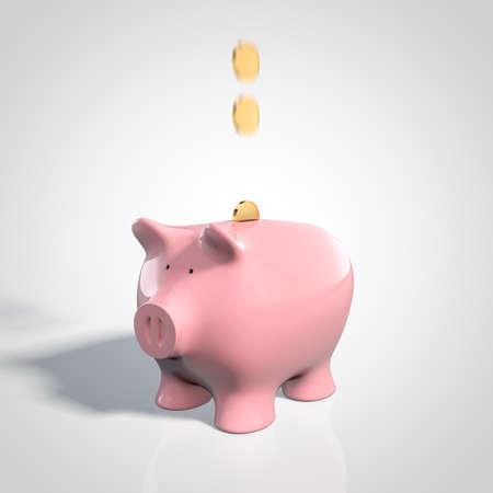 핑크 돼지 저금통