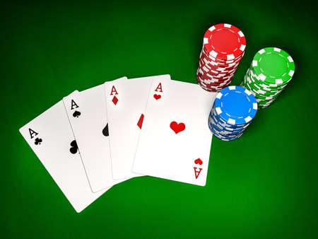 Poker table  Top view Stock fotó
