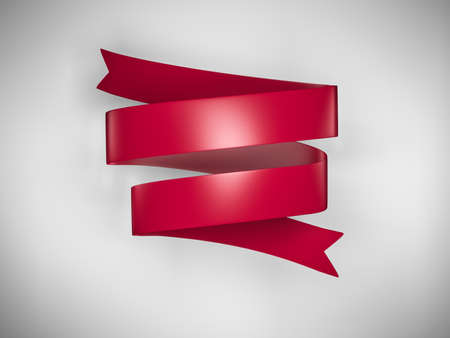 빨간색 배너 3 차원 렌더링 스톡 콘텐츠