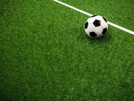 잔디에 축구 공 스톡 콘텐츠