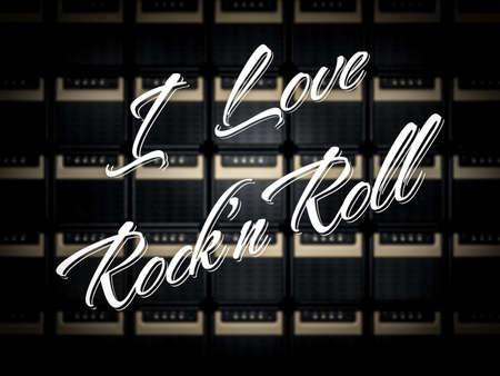 I love Rock n Roll Stok Fotoğraf