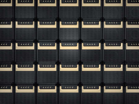 reverb: Amplifier background Stock Photo