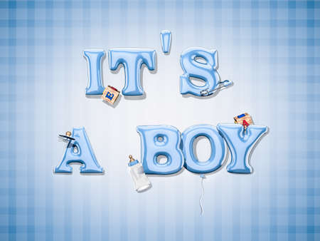 it is a boy Stock Photo