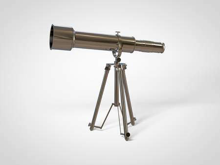 antique binoculars: Retro chromed telescope