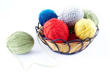Colorful ball of yarn photo